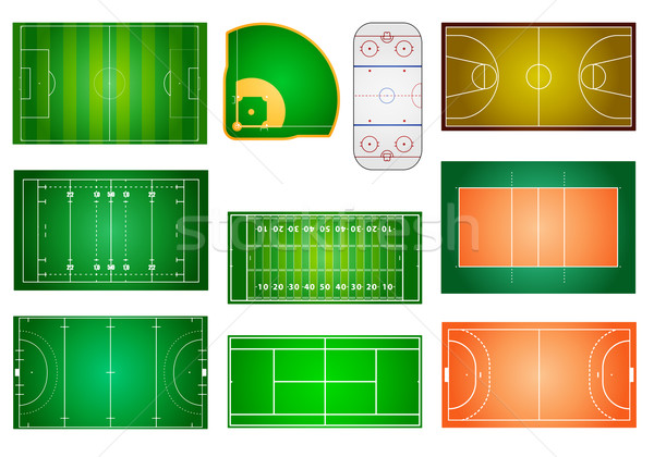 Stock photo: sport fields and courts