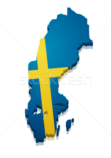 Map Sweden Stock photo © unkreatives