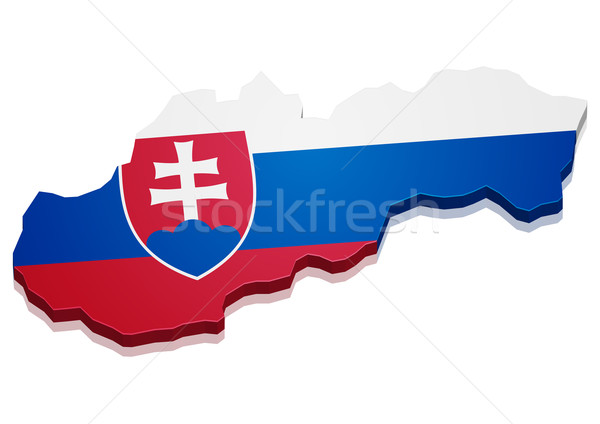 Mapa Eslováquia detalhado ilustração bandeira eps10 Foto stock © unkreatives