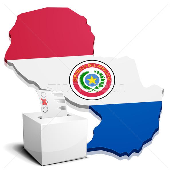 Paraguay dettagliato illustrazione mappa eps10 vettore Foto d'archivio © unkreatives