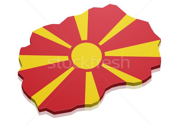 карта Македонии подробный иллюстрация флаг eps10 Сток-фото © unkreatives