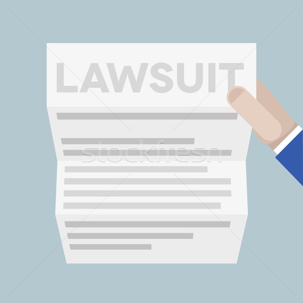 sheet lawsuit Stock photo © unkreatives