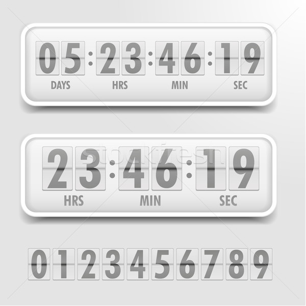 Countdown timer gedetailleerd illustratie heldere eps10 Stockfoto © unkreatives