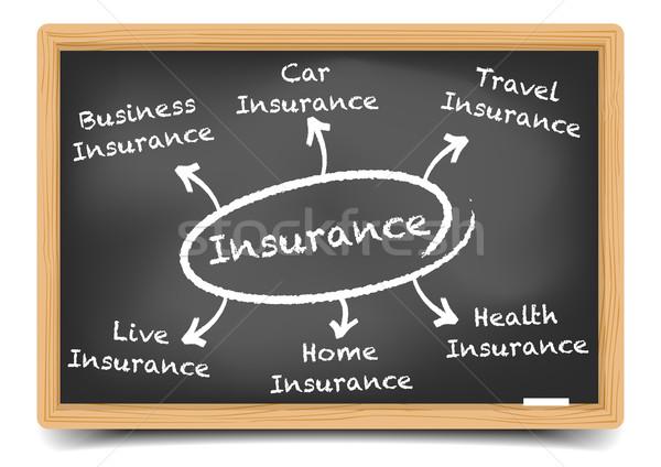insurance diagram Stock photo © unkreatives