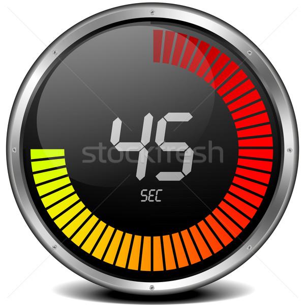 Dijital kronometre örnek Metal saat Stok fotoğraf © unkreatives