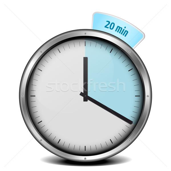 Timer illustration métal horloge verre bleu Photo stock © unkreatives