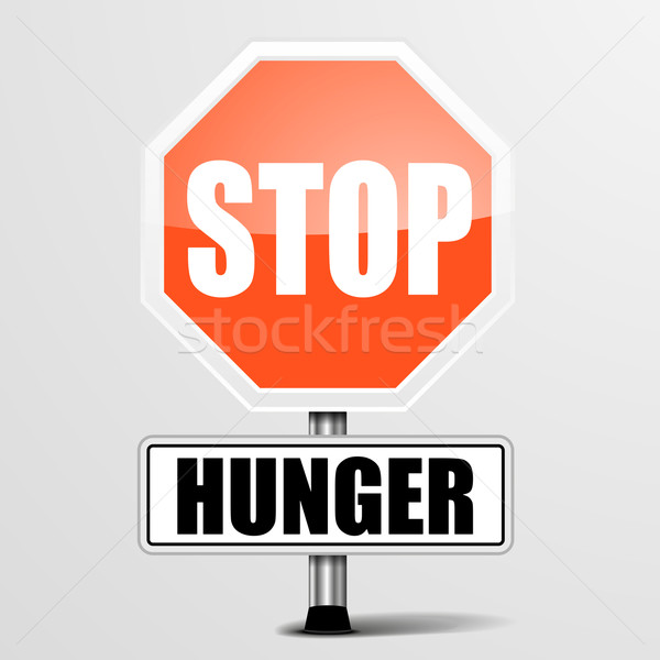 RoadSign_StopHunger Stock photo © unkreatives