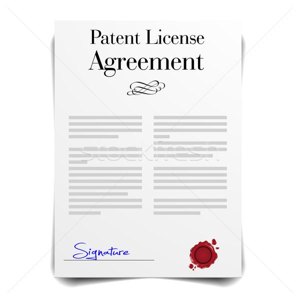 патент лицензия подробный иллюстрация соглашение письме Сток-фото © unkreatives