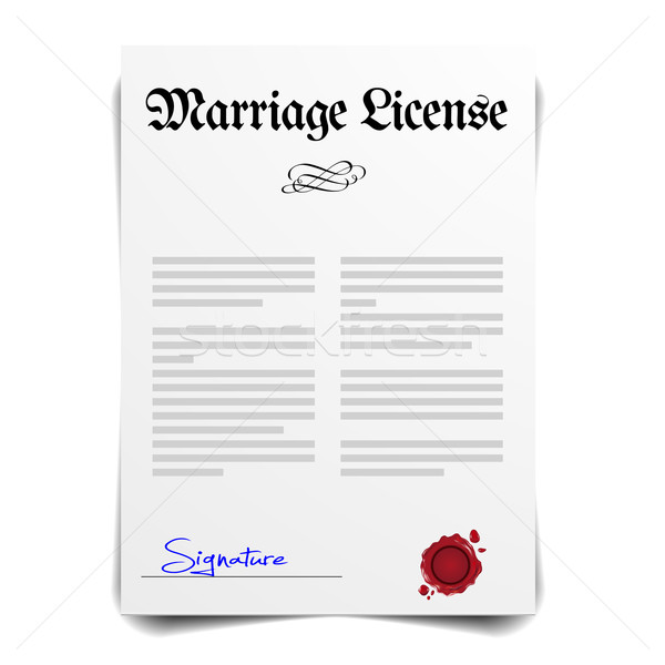 Marriage License Stock photo © unkreatives