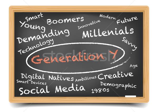 Generatie gedetailleerd illustratie Blackboard eps10 Stockfoto © unkreatives