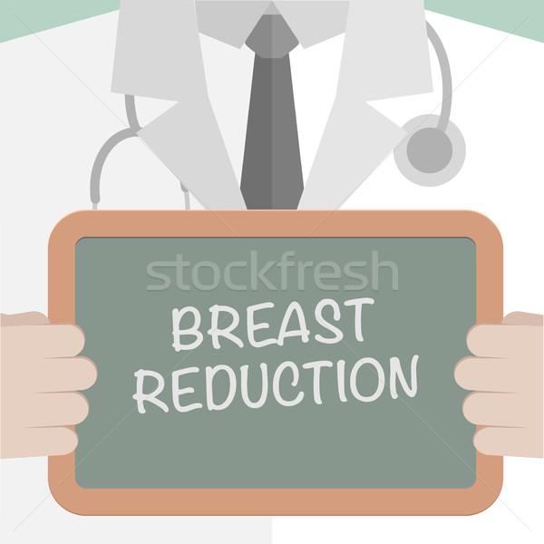 Medische boord borst reductie illustratie Stockfoto © unkreatives