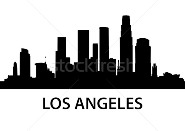 Skyline Los Angeles gedetailleerd illustratie Californië business Stockfoto © unkreatives
