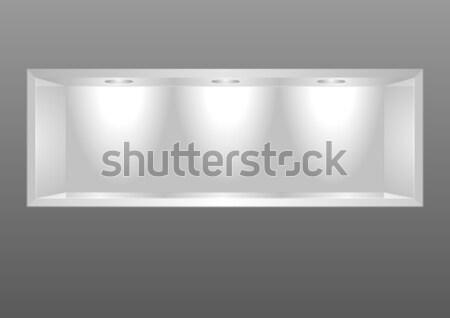 Tentoonstelling plank gedetailleerd illustratie drie lichten Stockfoto © unkreatives