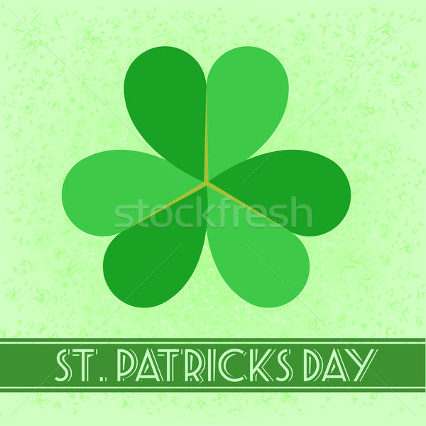 Retro gedetailleerd illustratie retro-stijl St Patrick's Day kaart Stockfoto © unkreatives