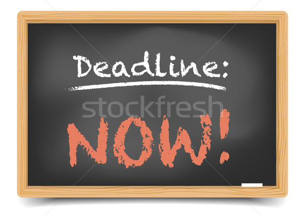 Blackboard Deadline now Stock photo © unkreatives