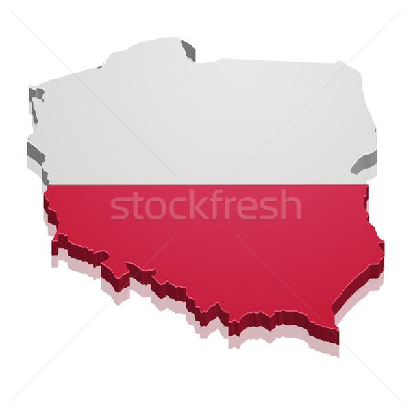 Mapa Polonia detallado ilustración bandera eps10 Foto stock © unkreatives