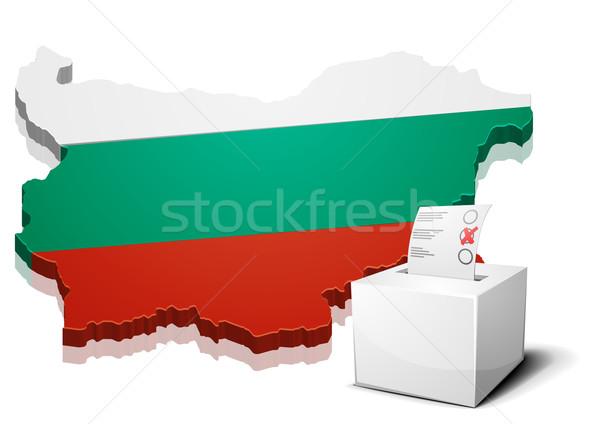 ブルガリア 詳しい 実例 地図 eps10 ベクトル ストックフォト © unkreatives