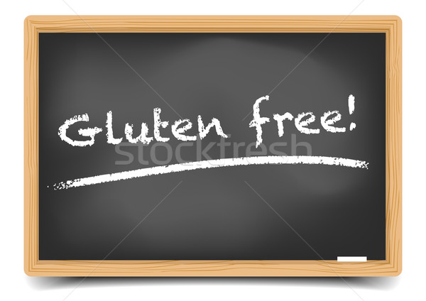 Blackboard Gluten Free Stock photo © unkreatives