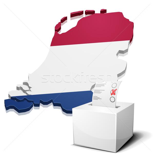 Niderlandy szczegółowy ilustracja Pokaż eps10 wektora Zdjęcia stock © unkreatives