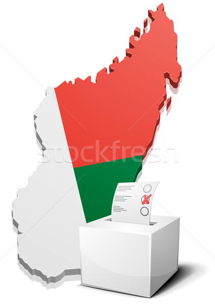 ballotbox Madagaskar Stock photo © unkreatives