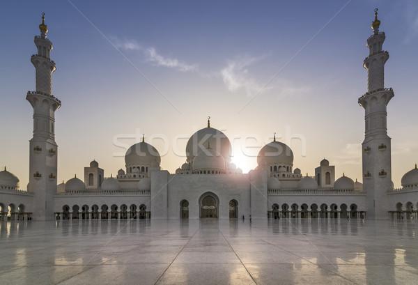 Mecset este nap utazás imádkozik építészet Stock fotó © unkreatives