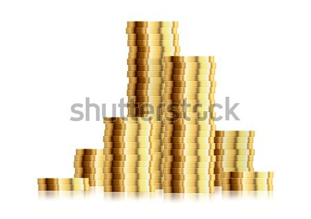 Bitcoin Coin Stacks Stock photo © unkreatives