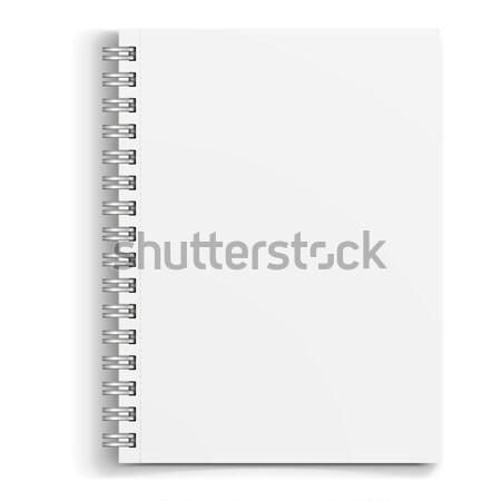Vázlat fehér notebook részletes illusztráció eps10 Stock fotó © unkreatives