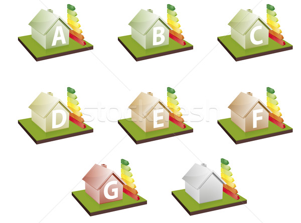 houses energy efficiency Stock photo © unkreatives