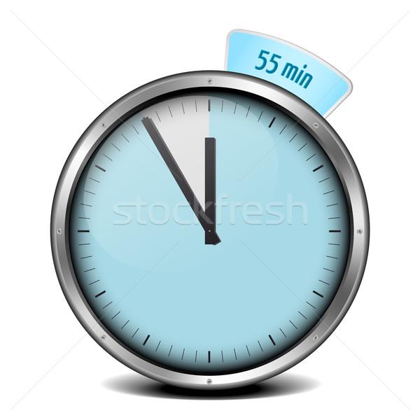 Timer illustrazione metal clock vetro blu Foto d'archivio © unkreatives