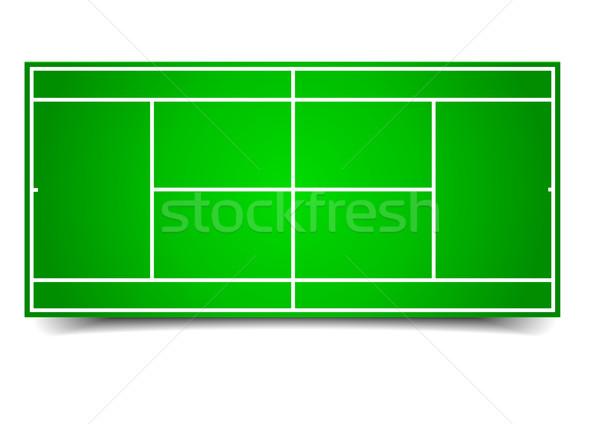 теннисный корт подробный иллюстрация eps10 вектора фон Сток-фото © unkreatives