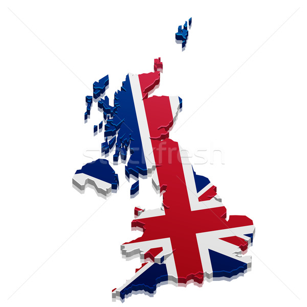 Map Great Britain Stock photo © unkreatives