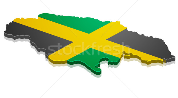 Map Jamaica Stock photo © unkreatives