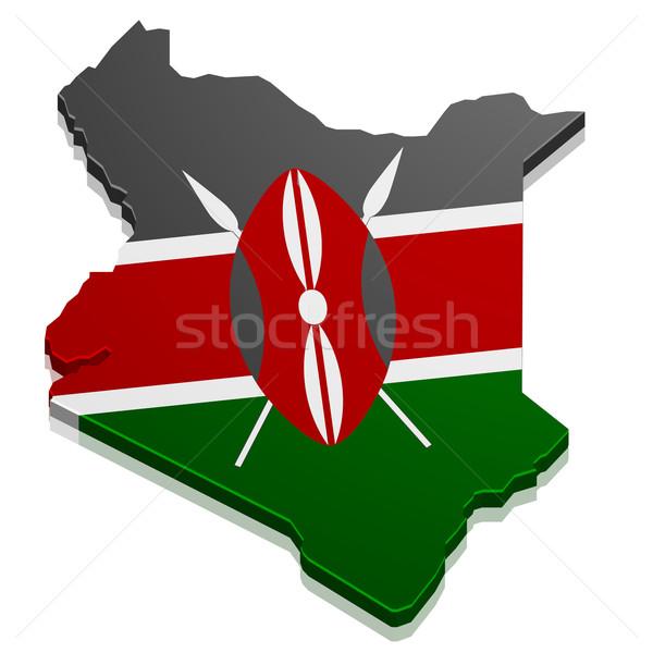 地図 ケニア 詳しい 実例 フラグ eps10 ストックフォト © unkreatives