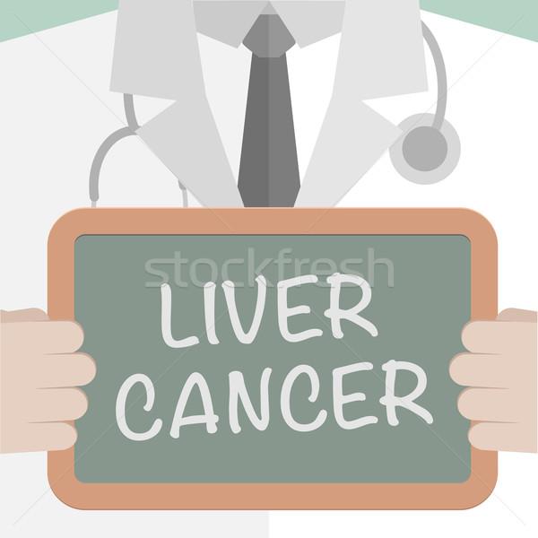 Médicos bordo hígado cáncer ilustración Foto stock © unkreatives