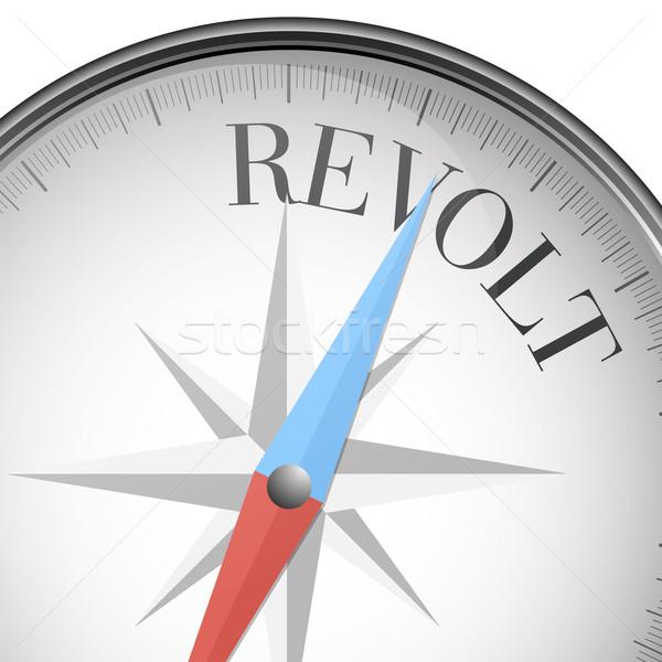 compass revolt Stock photo © unkreatives