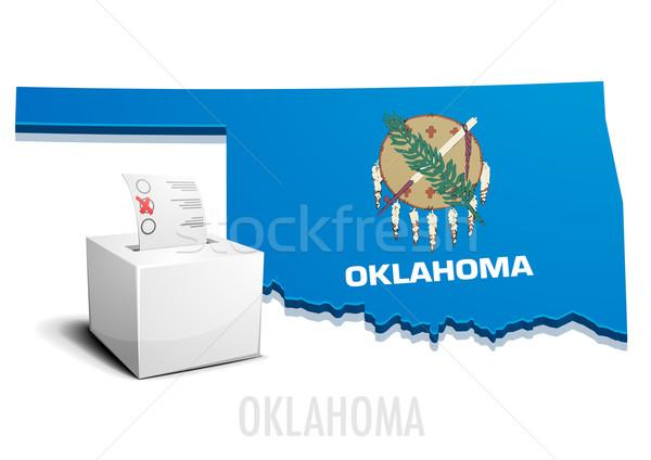 Kaart Oklahoma gedetailleerd illustratie eps10 vector Stockfoto © unkreatives
