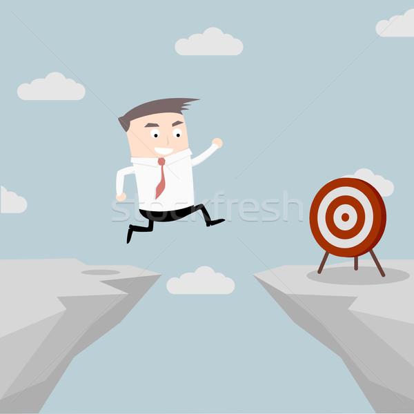 Businessman Target Jump Stock photo © unkreatives