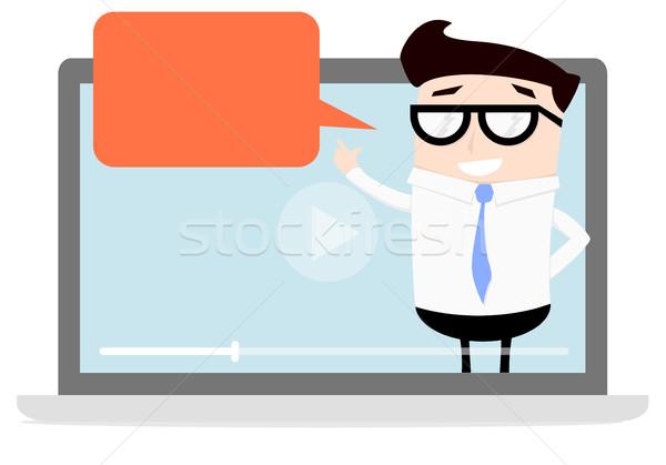 Businessman Explaining Vlog Stock photo © unkreatives
