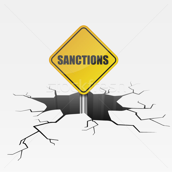 Deep Crack Sanctions Stock photo © unkreatives