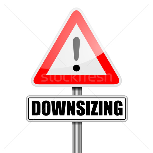 Road Sign Downsizing Stock photo © unkreatives