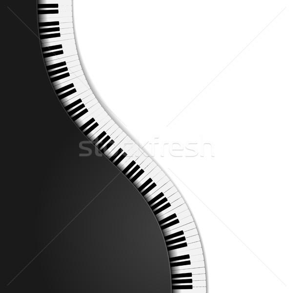 wavy piano keys Stock photo © unkreatives
