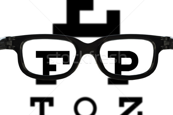glasses sight test Stock photo © unkreatives