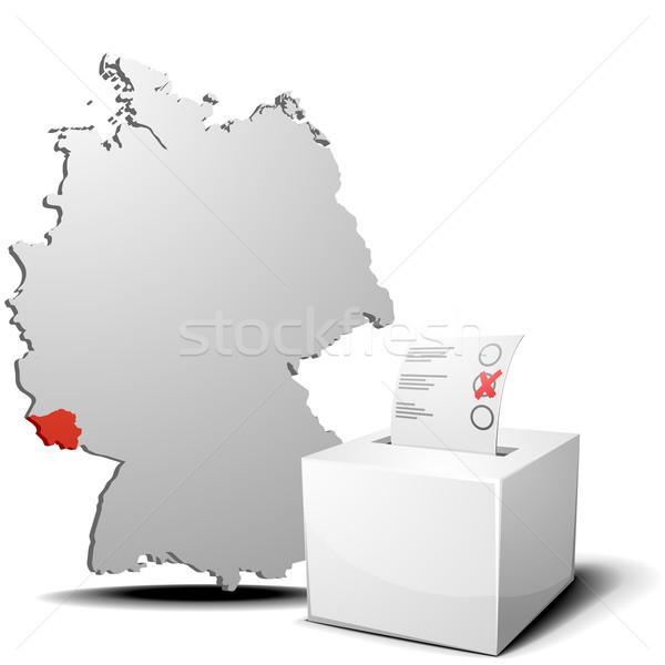 голосования Германия подробный иллюстрация голосование окна Сток-фото © unkreatives