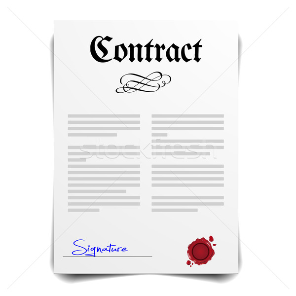 Contract Letter Stock photo © unkreatives