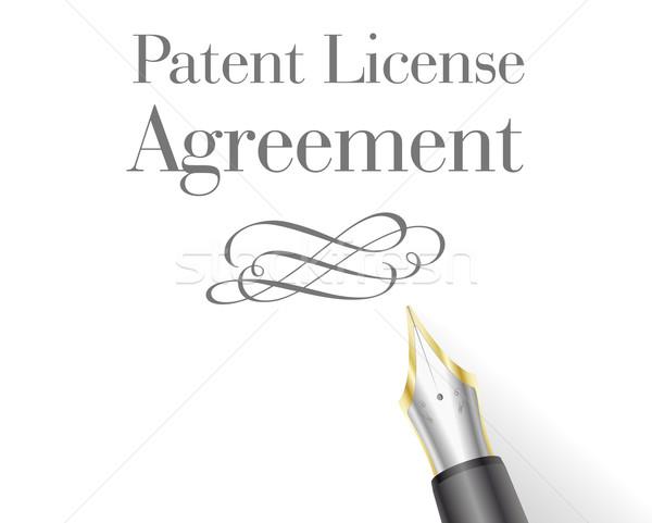 Octrooi licentie illustratie overeenkomst brief hoofd Stockfoto © unkreatives