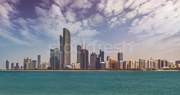 Abu Dhabi Skyline Stock photo © unkreatives