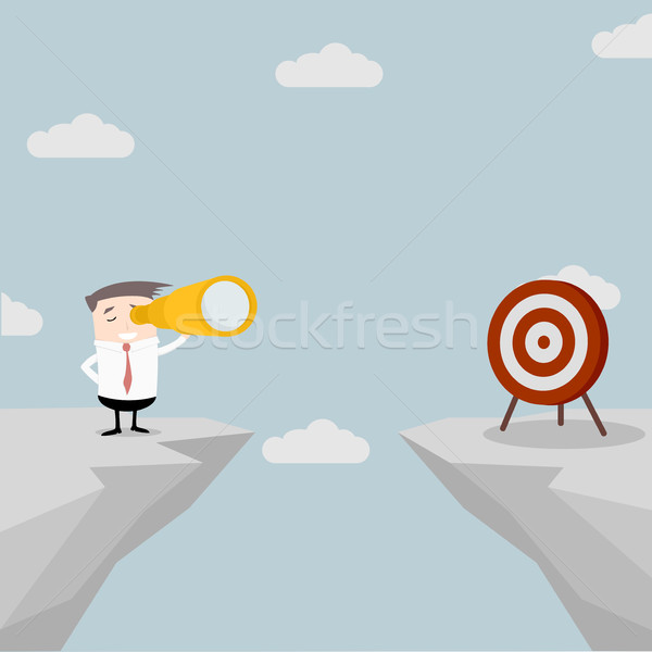 Businessman Spyglass Target Stock photo © unkreatives
