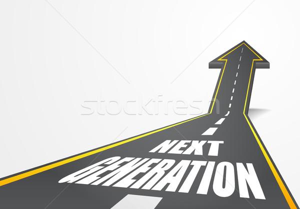 Route prochaine génération détaillée illustration autoroute Photo stock © unkreatives