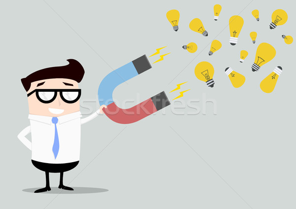 Businessman Magnet Ideas Stock photo © unkreatives