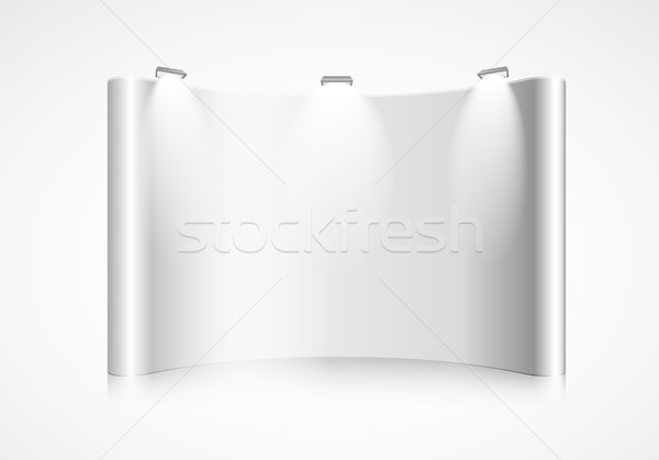 curved exhibition wall Stock photo © unkreatives